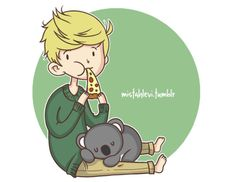 Niall pizza and a koala bear One Direction Fan Art, One Direction Cartoons, One Direction Drawings, One Direction Outfits, Niall Horan, Zayn, 5sos Cartoon, One Directin, Pencil And Paper