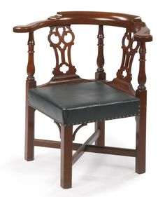 PROPERTY FROM THE COLLECTION OF THOMAS P AND ALICE K KUGELMAN - The Samuel Talcott Chippendale Cherrywood Roundabout Armchair, Hartford or possibly Norwich, Connecticut, circa 1770 -  Height 33 1/4 in.