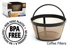 Coffee Filters - GoldTone Brand Reusable 8-12 Cup Basket Coffee Filter fits Mr. Coffee Makers and Brewers. Replaces your Mr. Coffee Reusable Basket Coffee Filter & Permanent Mr. Coffee Basket Filter - BPA Free