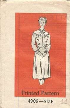 Vintage Mail Order Tissue Dress & Jacket Pattern 4537 circa 1970's size 44 Bust 48 by EvaStAlbans on Etsy