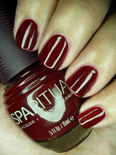 SpaRitual - Kiss the Cook. Love this vegan line of nail polishes. Nice red!