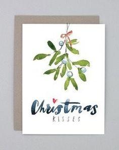 Watercolor Christmas Mistletoe