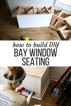 homedecor window This gorgeous built-in bay window seating is a project you can totally do yourself - its perfect for dining room seating or a bay window in a living room! Here are all the details on how to build DIY banquette seating for your bay window. Banquette Seating In Kitchen, Dining Room Bench Seating, Bedroom Seating, Banquette Bench, Dining Tables, Dining Area, Diy Bench Seat, Diy Storage Bench, Storage Ideas
