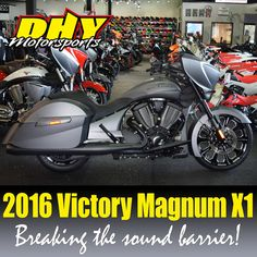We've received a 2016 #Victory #MagnumX1 #StealthEdition at #DHYMotorsports Come see it break the #SoundBarrier