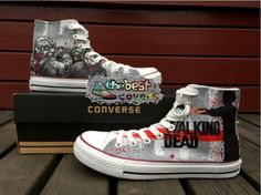 149bf906fdd0af CONVERSE All Star THE WALKING DEAD!horror series hand painted shoes zapatos
