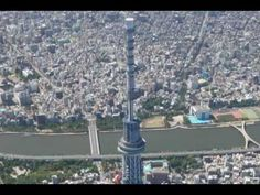 Tokyo Sky Tree - timelapse and shooting from helicopter