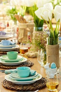 Easter Tablescape, so lovely.