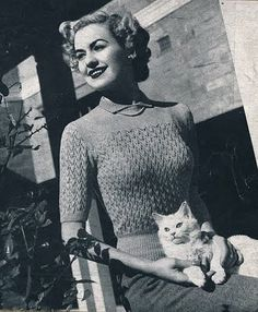 Vintage Stitch-O-Rama Free Pattern Emporium: Rondo Sweater, 1940s