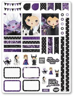 Evil Women Decorating Kit PDF PRINTABLE Planner Stickers