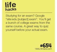 Study for college exams tests etc college life hacks, school hacks, college tips, College Life Hacks, High School Hacks, Life Hacks For School, School Study Tips, College Tips, School Tips, Life Hacks For Students, College Nursing, College Checklist