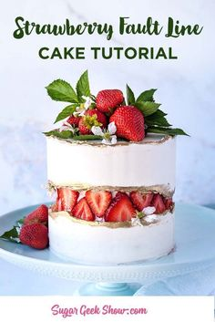 Strawberry Fault Line Cake – Sugar Geek Show Free Tutorials and Recipes – Strawberry Fault Line Cake – Sugar Geek zeigen kostenlose Tutorials und Rezepte – Related posts: Strawberry Fault Line Cake Tutorial + Video Cake Decorating Techniques, Cake Decorating Tutorials, Decorating Ideas, Cupcakes, Cupcake Cakes, Fresh Strawberry Cake, Strawberry Puree, Strawberry Cheesecake, Strawberry Shortcake