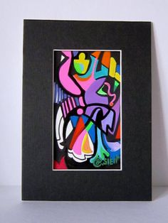 Abstract  Number Two by MoonieBlues on Etsy, $15.00