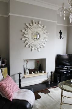 Home Renovation Living Room Should You Paint Above The Picture Rail? - Swoon Worthy - If you are wondering whether you should paint above the picture rail in your period property, check out my tips and advice including before Living Room Paint, Living Room Grey, Home Living Room, Living Room Decor, Dado Rail Living Room, Dado Rail Bedroom, Picture Rail Bedroom, Dado Rail Hallway, Picture Rail Molding