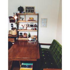 今日は片付いてる/カリモク60 ソファー/カリモク60 Kチェア/DIY棚…などのインテリア実例 - 2015-02-25 19:25:49 | RoomClip(ルームクリップ)