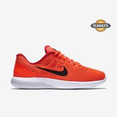 Nike Lunarglide 8 Mens Running Shoes 8.5 Total Crimson Black Red 843725 800 #Nike #RunningCrossTraining