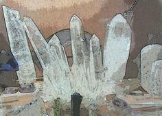 Cristallo rocca druse e cristalli