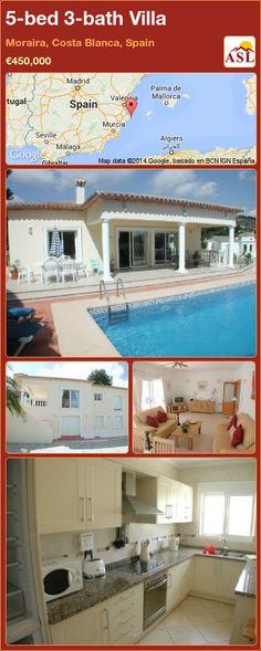 5-bed 3-bath Villa in Moraira, Costa Blanca, Spain ►€450,000 #PropertyForSaleInSpain