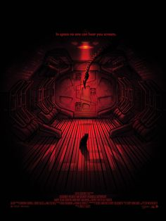 """Alien poster by Paul Ainsworth """"In Space, No One Can Hear You Scream"""""""