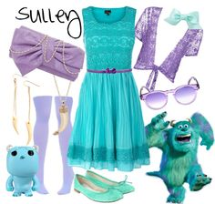 """Disney Pixar Sulley"" by sophiedee11 on Polyvore"