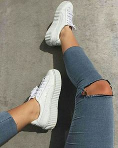 white PUMAS//pinterest: juliabarefoot