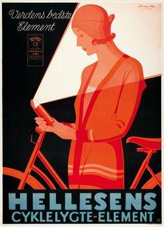 Sven Henriksen - Hellesen Cyklelygte Element (1930)