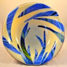"""11"""" Fused glass bowl on Etsy, $93.00"""