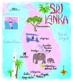 Sri Lanka map by Scott Jessop, July 2013 issue