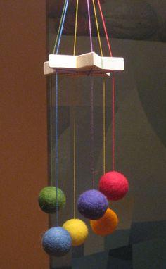 felt ball mobile