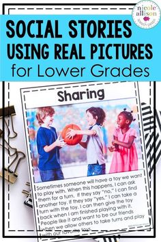 Social stories using real stock photos for younger elementary students!