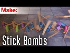 """The term """"Stick bomb"""" is used to describe a broad category of kinetic art. A stick bomb can be almost anything that is constructed from flat sticks that. Stem Projects, Projects For Kids, Science Projects, Science Activities, Science Experiments, Stem Science, Physical Science, Steam Education, Craft Stick Crafts"""