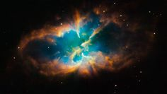 """""""The gaseous outer layers of a Sun-like star glow in space after being expelled as the star reached the end of its life."""""""