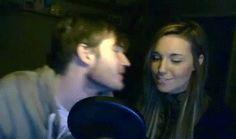 pewdiepie and marzia kiss gif - Buscar con Google