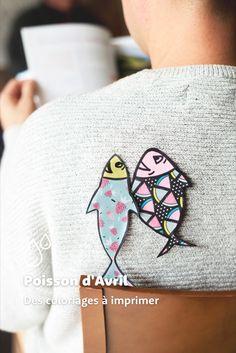 Téléchargez nos coloriages de poissons à faire en famille ! Mont Roucous, Pisces