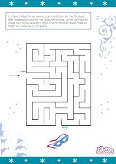 Snow Queen Lottie doll maze game for kids #free #printables Download at www.lottie.com/create/