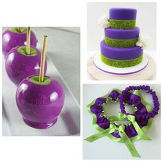 Apple/Lime Green and Purple Wedding Ideas