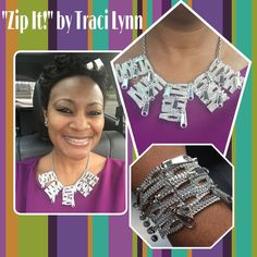 Traci Lynn Fashion Jewelry Zip It collection  Www.tracilynnjewelry.net/24276/ #silverjewelry #fashion