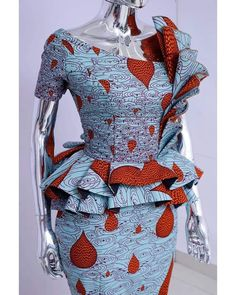 Short African Dresses, African Inspired Fashion, Latest African Fashion Dresses, African Print Dresses, African Print Fashion, Africa Fashion, African Blouses, Short Gowns, African Fashion Traditional