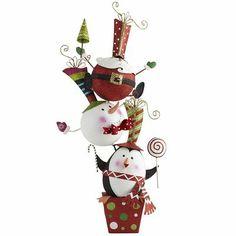 Stacking Santa, Snowman & Penguin from #Pier1 #SoCute #Christmas