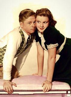 Mickey Rooney & Judy Garland - adorable!