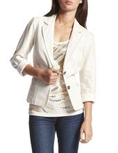 white blazer =) I actually have one like this from BR