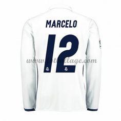 Fotbollströjor Real Madrid 2016-17 Marcelo 12 Hemmatröja Långärmad