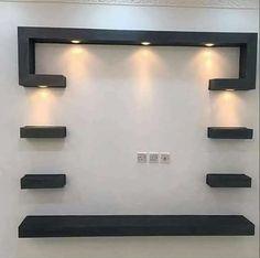 Modern Tv Unit Designs, Wall Unit Designs, Modern Tv Wall Units, Wall Showcase Design, Tv Wall Design, Pop Design For Hall, Tv Unit Furniture Design, Tv Unit Interior Design, Tv Furniture