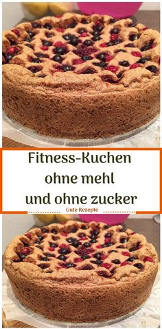 Fitness-Kuchen ohne mehl und ohne zucker Fitness cake without flour and without sugar Dessert Recipes For Kids, Healthy Dessert Recipes, Easy Desserts, Low Carb Recipes, Cookie Recipes, Dessert Simple, Oatmeal Recipes, Vegan Breakfast Recipes, Fitness Cake
