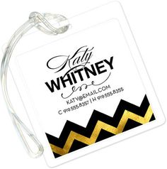 Gold Sophisticated Posh Luggage Tags