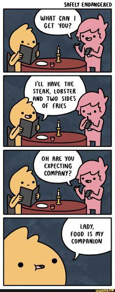 Food is my companion