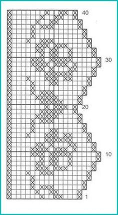 Filet crochet roses and hearts edging