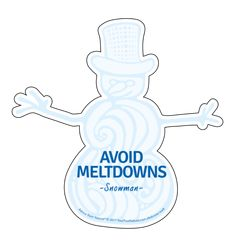 Advice from a Snowman Die Cut Sticker- Large: $3.50