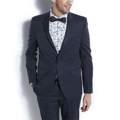 Veste de costume fitted Bleu Petrole homme