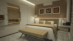Suíte Master - Apartamento Residencial Condomínio Ed. Palazzo Fiorentino