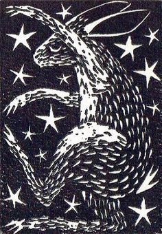 Two Plate Linocut, The Night Hare, Lino Cut, Lino Print ...